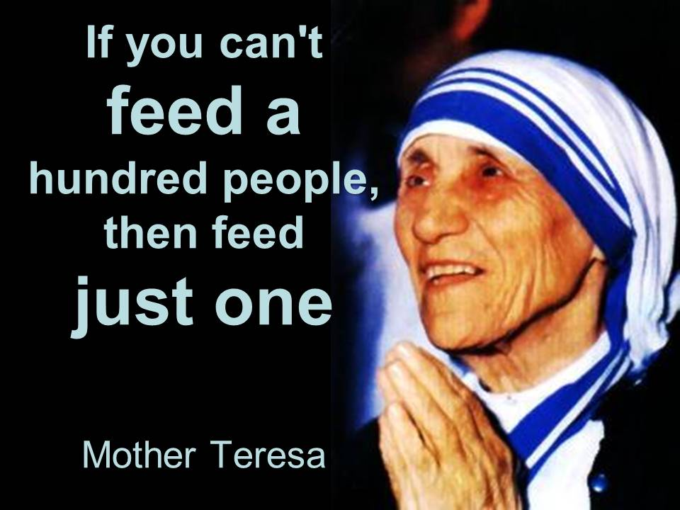 Mother Teresa Feeding The Poor Mother Teresa Feeding The